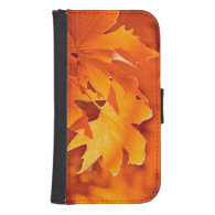 Autumn Leaves 2 Galaxy S4 Wallet Case
