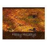 Autumn Leaves 2 Happy Holidays Postcard