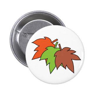 Autumn Leaves 2 Inch Round Button