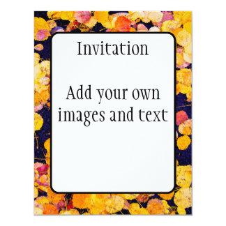 Autumn Leaves 4.25x5.5 Paper Invitation Card