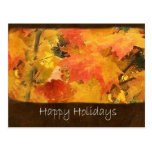 Autumn Leaves 5 Happy Holidays Post Card