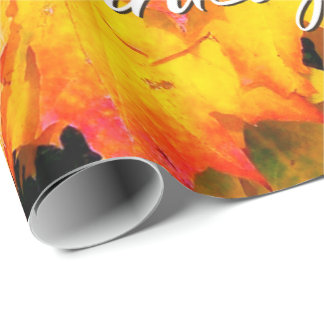 Autumn Leaves 7 Happy Thanksgiving Wrapping Paper