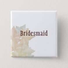 Autumn Leaves, A Fall Wedding Badge Name Tag Pinback Button at Zazzle