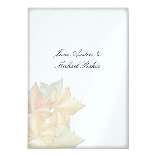 Autumn Leaves, A Fall Wedding Ceremony & Reception Card