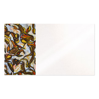 Autumn Leaves - Abstract Art Handpainted Double-Sided Standard Business Cards (Pack Of 100)