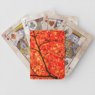 Autumn Leaves Abstract Bicycle Playing Cards
