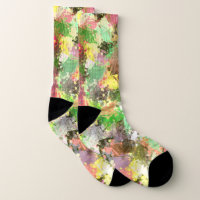 Autumn Leaves Abstract in Colors of Fall Socks