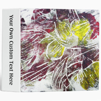 Autumn Leaves. Abstract in Red and Yellow. 3 Ring Binder