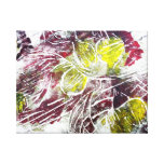 Autumn Leaves. Abstract in Red and Yellow. Gallery Wrapped Canvas