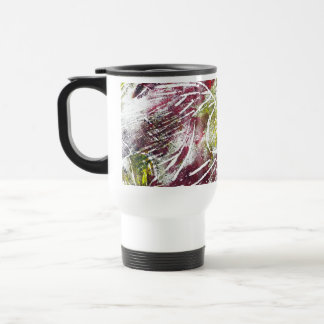 Autumn Leaves. Abstract in Red and Yellow. Travel Mug
