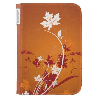 Autumn Leaves Abstract Kindle 3G Case
