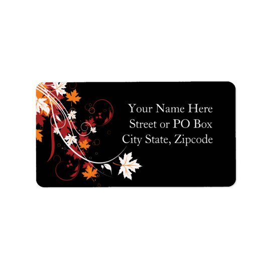 Autumn Leaves Abstract Label
