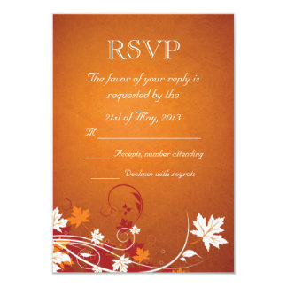 Autumn Leaves Abstract RSVP Custom Invite