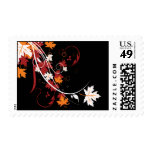 Autumn Leaves Abstract Stamp