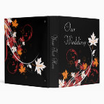 Autumn Leaves Abstract Wedding Photo Album 3 Ring Binder