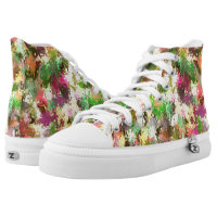 Autumn Leaves Abstract Zipz High Top Adult Shoes