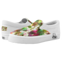 Autumn Leaves Abstract Zipz Slip On Adult Shoes