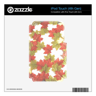 Autumn Leaves Add Photos iPod Touch 4G Skin