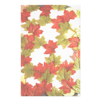 Autumn Leaves Add Photos Stationery