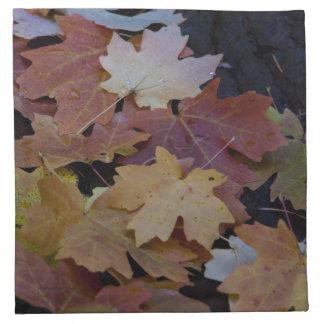 autumn leaves all around napkin