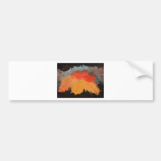 Autumn leaves and birds bumper sticker