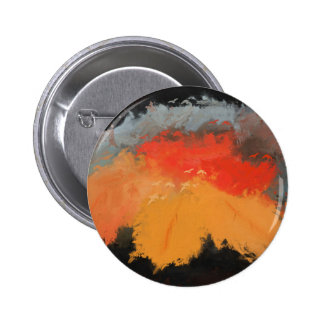 Autumn leaves and birds pinback button