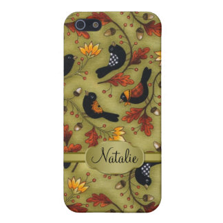 Autumn leaves and birds Speck iPhone SE/5/5s Cover