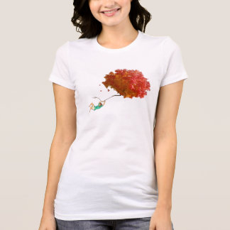 AUTUMN LEAVES AND GIRL by Slipperywindow T-Shirt