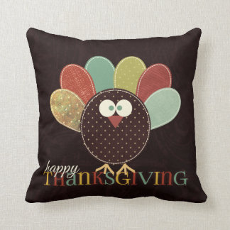 Autumn Leaves and Patchwork Turkey Pillow