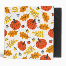 Autumn Leaves and pumpkins Binder