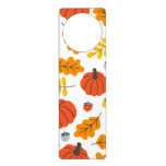 Autumn Leaves and pumpkins Door Hanger