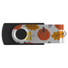 Autumn Leaves and pumpkins Flash Drive