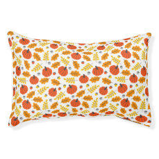 Autumn Leaves and pumpkins Pet Bed