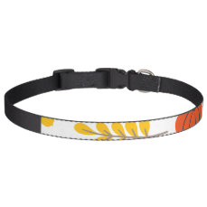 Autumn Leaves and pumpkins Pet Collar