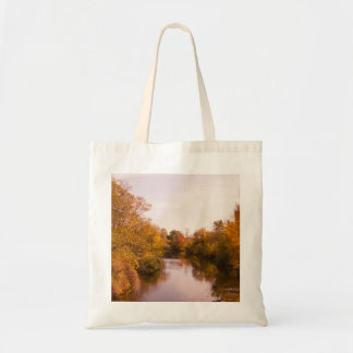 Autumn Leaves and River Photo Bag