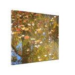 Autumn Leaves and Stream Reflection at Greenbelt Canvas Print