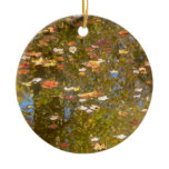 Autumn Leaves and Stream Reflection at Greenbelt Ceramic Ornament