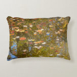 Autumn Leaves and Stream Reflection at Greenbelt Decorative Pillow