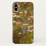 Autumn Leaves and Stream Reflection at Greenbelt iPhone X Case