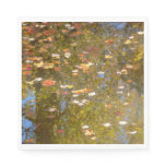 Autumn Leaves and Stream Reflection at Greenbelt Paper Napkin