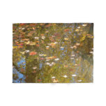 Autumn Leaves and Stream Reflection Fleece Blanket