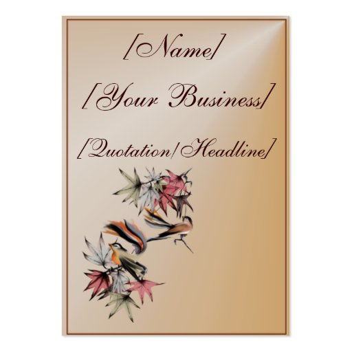 Autumn Leaves and Two Birds profilecard_chubby_... Large Business Cards (Pack Of 100)
