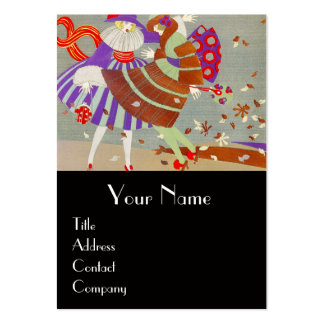 AUTUMN LEAVES AND WIND / FASHION COSTUME DESIGNER LARGE BUSINESS CARD
