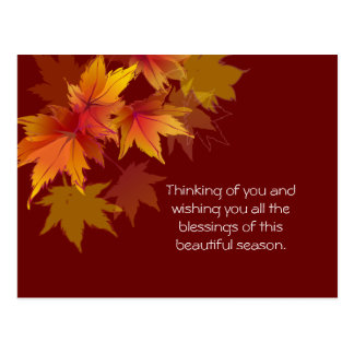 Autumn Leaves are Falling Postcard
