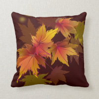 Autumn Leaves are Falling Throw Pillow