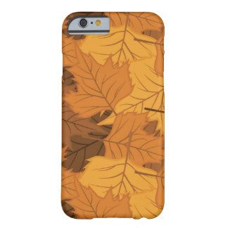 Autumn leaves background barely there iPhone 6 case