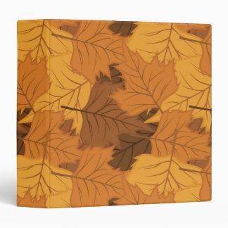 Autumn leaves background binder