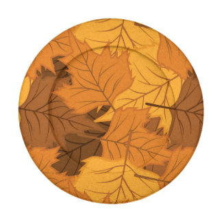 Autumn leaves background button covers