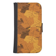 Autumn leaves background galaxy s4 wallets