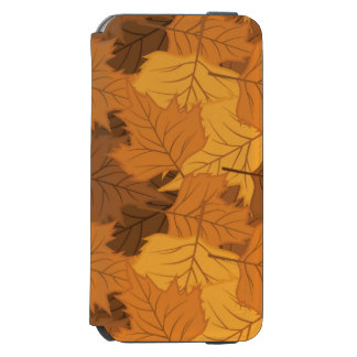 Autumn leaves background iPhone 6/6s wallet case